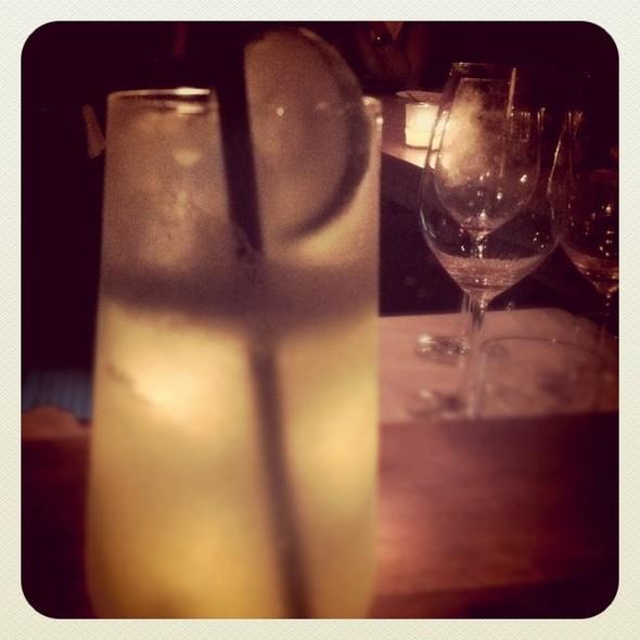 ginsalata: gin, cucumber, basil & lime. s #cocktails @ Sorella