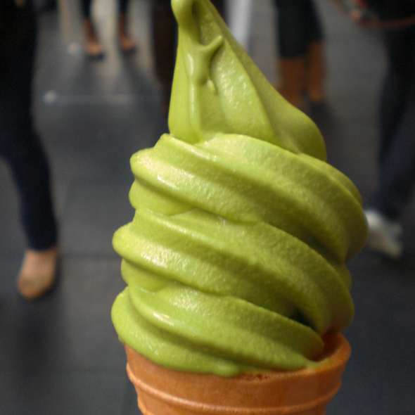 Green Tea Soft Serve @ Mizuya Japanese Restaurant & Karaoke