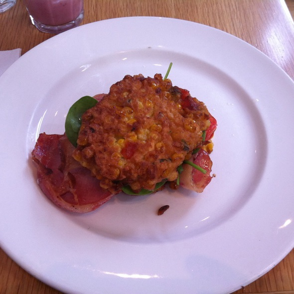 Corn Fritters With Bacon @ Bills