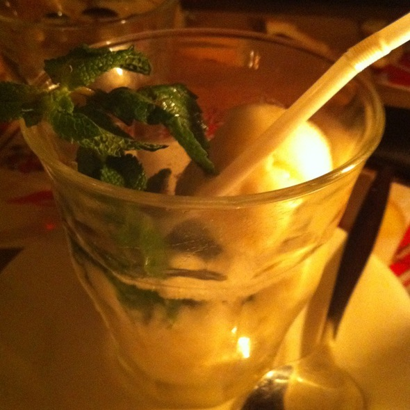 Lemon Ice Sorbet With Wodka @ G.W. van Beeren