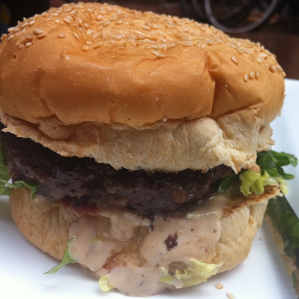 Kobe Beef Cheeseburger @ Burger Bar
