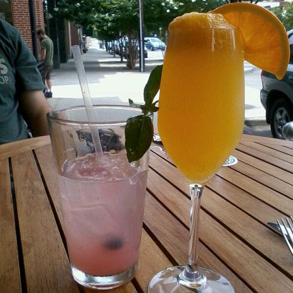 Blueberry Rum Lemonade And Mimosa @ Local Roots Restaurant