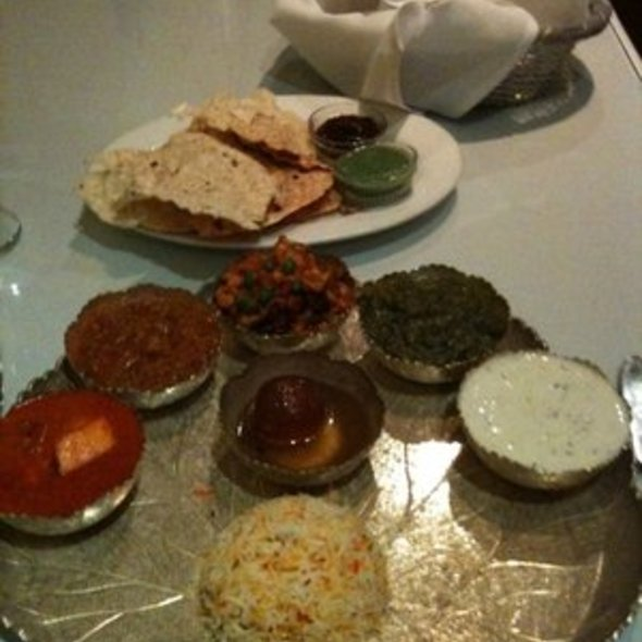 Vegetarian Thali @ Turmeric Restaurant