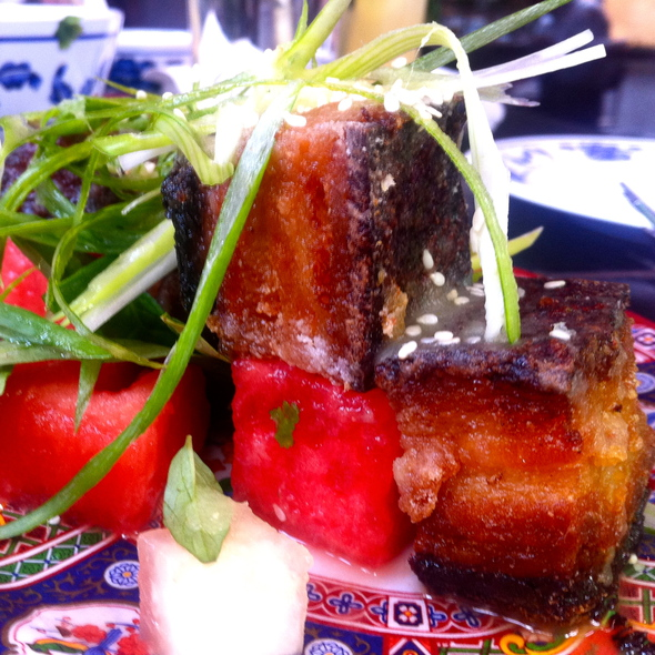 Watermelon Pickle and Crispy Pork @ Fatty Crab