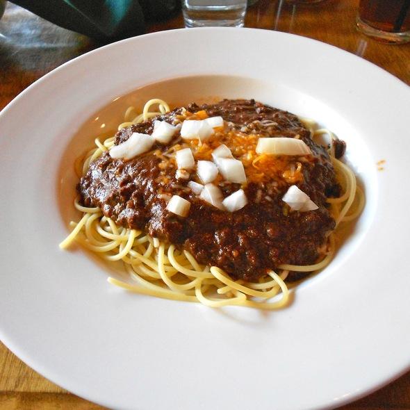 Cincinatti 3 Way Chili - CJ's Grill, Mammoth Lakes, CA