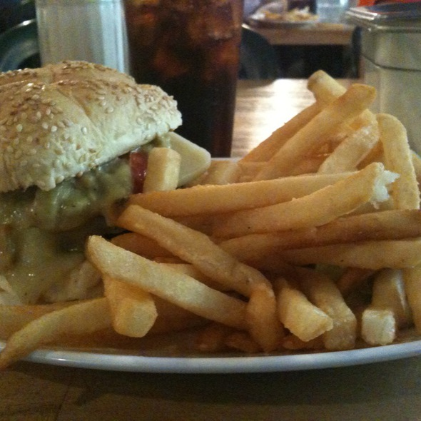 Guacamole Burger With Swiss Cheese @ Mr. Bartley's