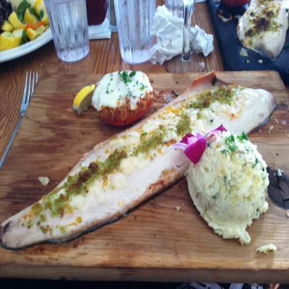Cedar Plank Lake Superior Whitefish - Rick's Cafe Boatyard, Indianapolis, IN