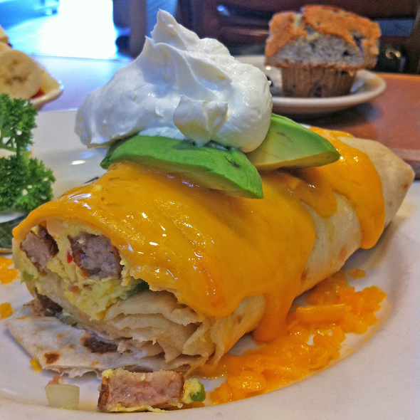 Breakfast Burrito @ Jin Sho Japanese Restaurant
