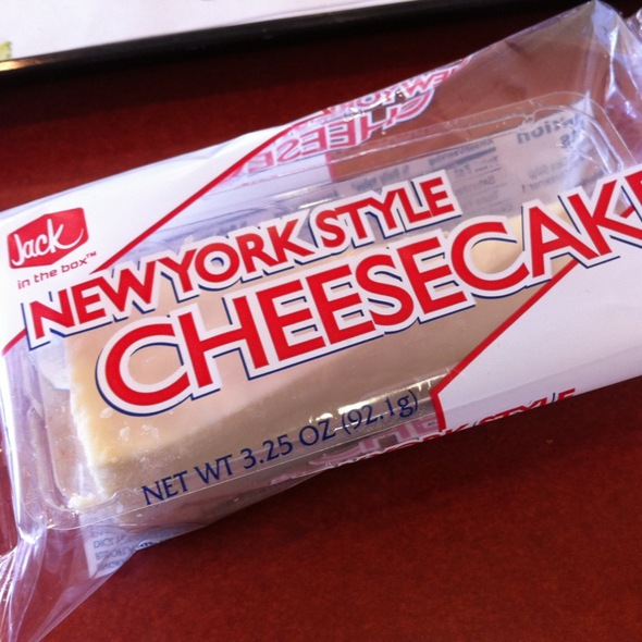 New York Style Cheesecake @ Jack In the Box