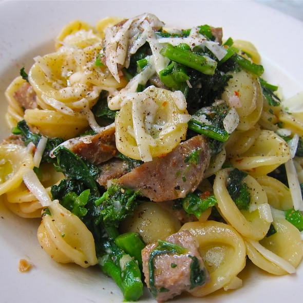 Orecchiette con Broccoli Rabe, Sausage, Pecorino @ Macaroni Sciue Sciue