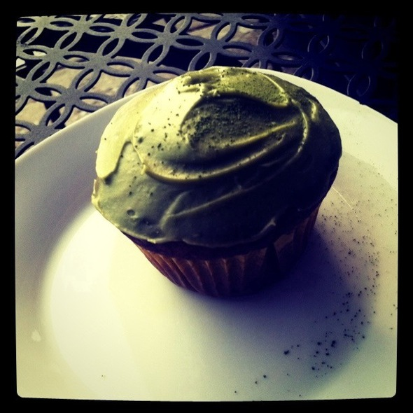 Green Tea Cupcake @ Cups & Chairs Tea Cafe