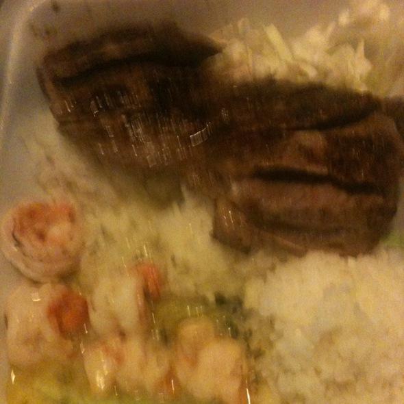 New York Steak And Garlic Shrimp