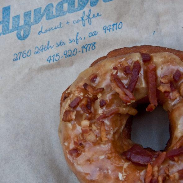 Maple Glazed Bacon Apple Doughnut @ Dynamo Donut & Coffee