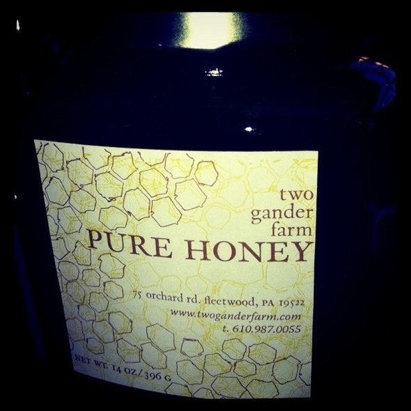 Two Gander Farm honey @ Milk and Honey Market