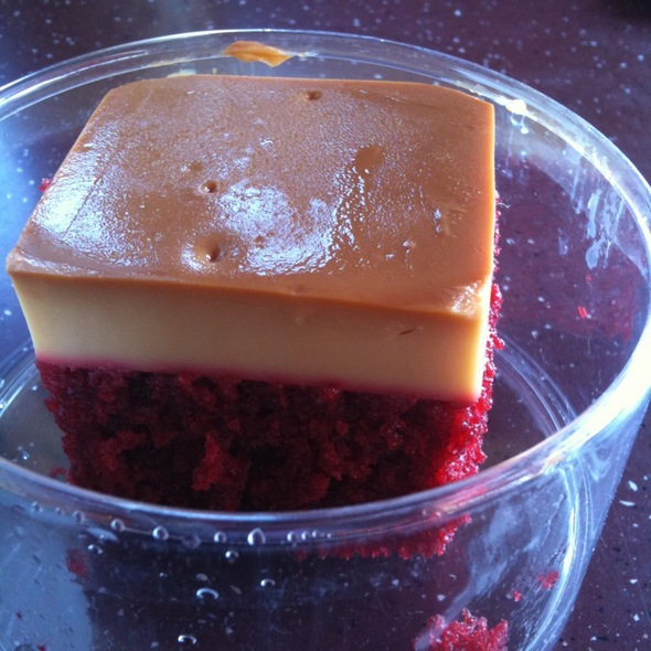Red Velvet Flan @ White Rabbit Fusion Cafe
