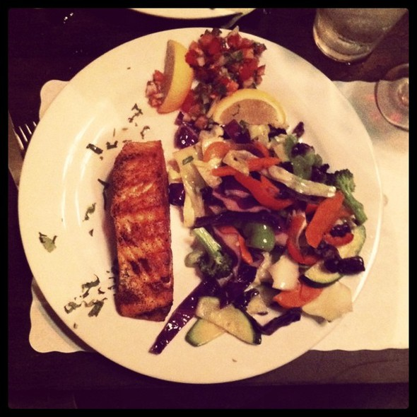 nothing beats local wild caught salmon & veggies @ Rimel's Rotisserie