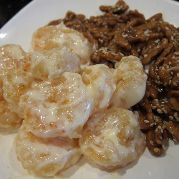 Prawn with Walnuts in Mayo Sauce @ Cooking Papa