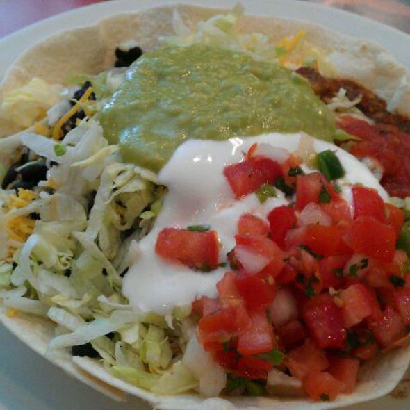 Veggie Tostada Salad @ Caramba Mexican Food
