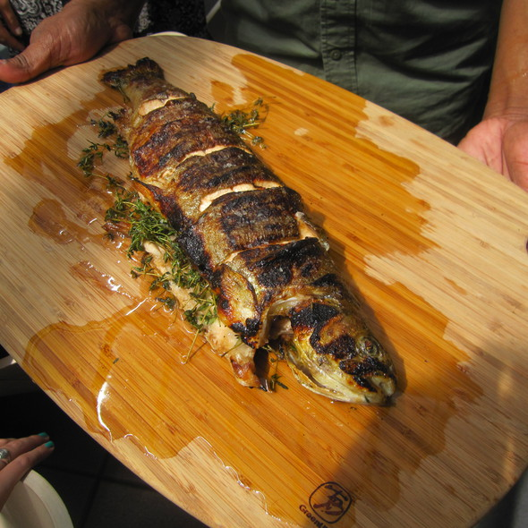 Grilled Whole Rainbow Trout @ Bar Basque