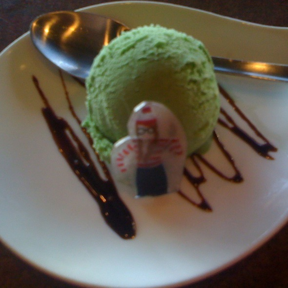Green Tea Ice Cream - Sonoda Ramen and Sushi, Englewood, CO