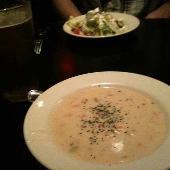 Rock Shrimp & Corn Chowder - Carlyle Grill, Ann Arbor, MI