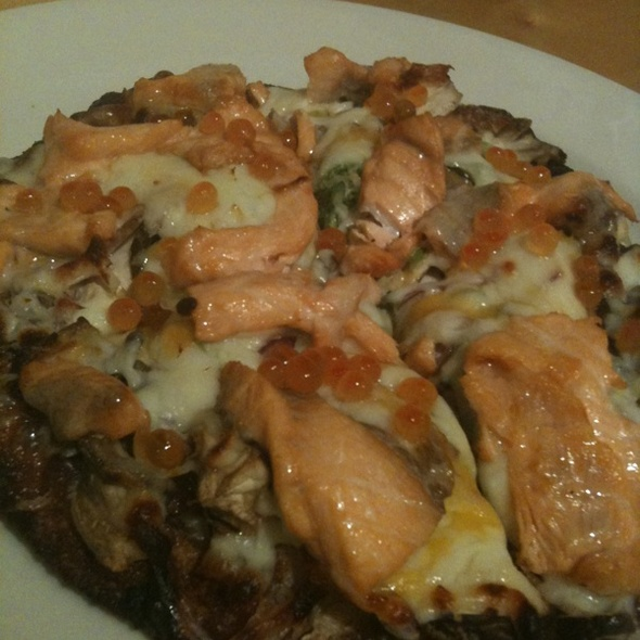 Sake Cream Cheese Miso Fusion Pizza @ Gochi Japanese Fusion Tapas