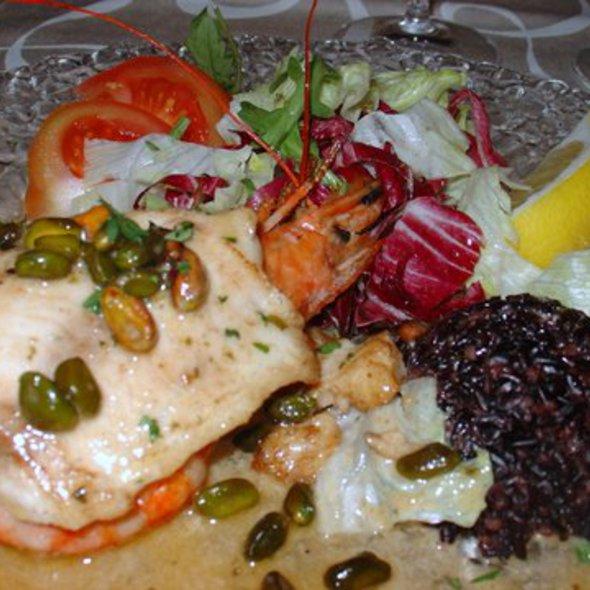 Seafood with Black Rice @ Ristorante 7 Archi
