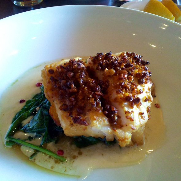 Plantain and Chorizo Crusted Grouper @ Restaurant Sabor