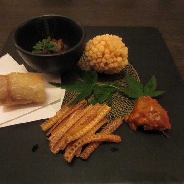 魚骨, 長腳蟹, 鮮魚春, 蝦 @ 玄鮨
