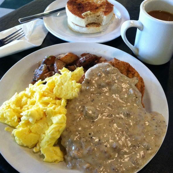 chicken fried steak and eggs @ Tommy Colina's Kitchen