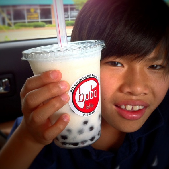 Lychee Smoothie With Pearls @ Boba Latte