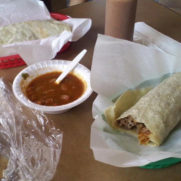 Carne Asada Burritos and Chips @ Mr. Taco