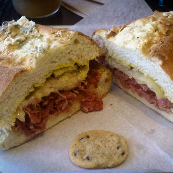 Dom Pastram on Blue Cheese Bread @ Rubicon Deli