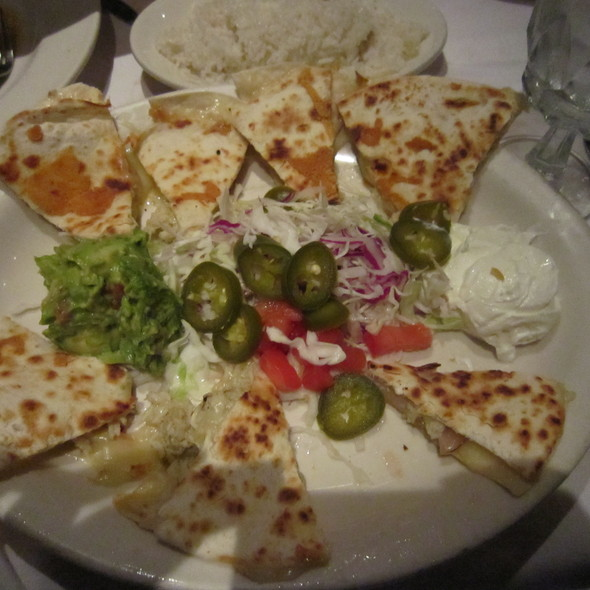 Lobster and Shrimp Quesadilla @ Lauriol Plaza
