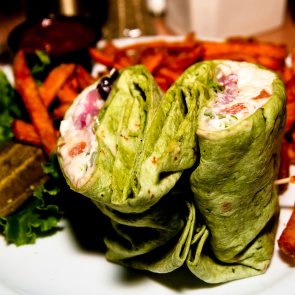 Greek Wrap @ Church Brew Works & Restaurant
