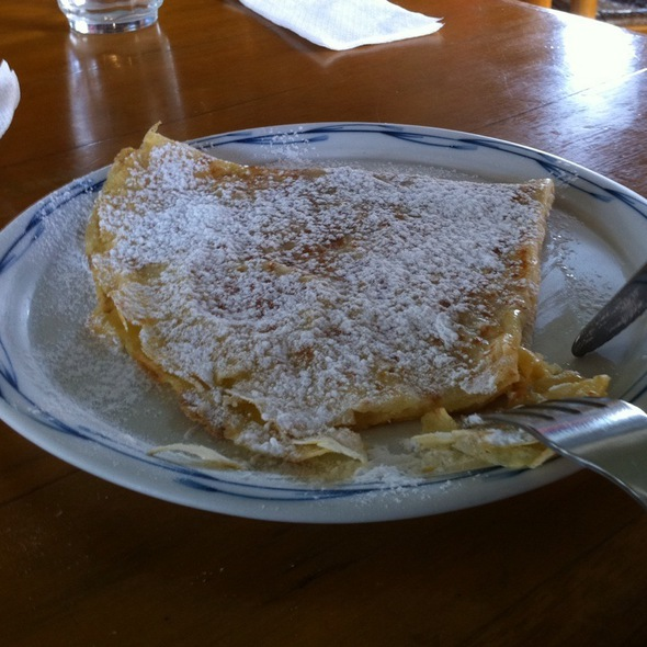 Crepe with butter and sugar @ Cafe Breton