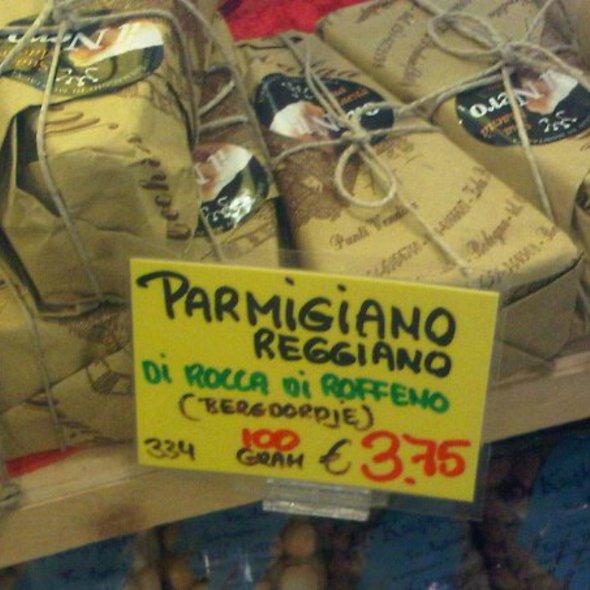 Cheese: Parmigiano Reggiano