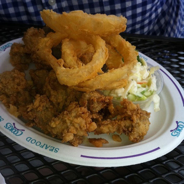 Fried Oyster Platter @ Cooke's Seafood
