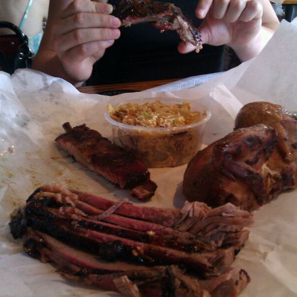 Brisket, Ribs, Chicken & Potato Salad @ Lockhart Smokehouse BBQ