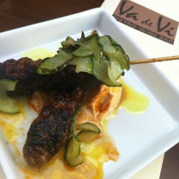 Moroccan lamb meatballs @ Va De Vi Bistro & Wine Bar