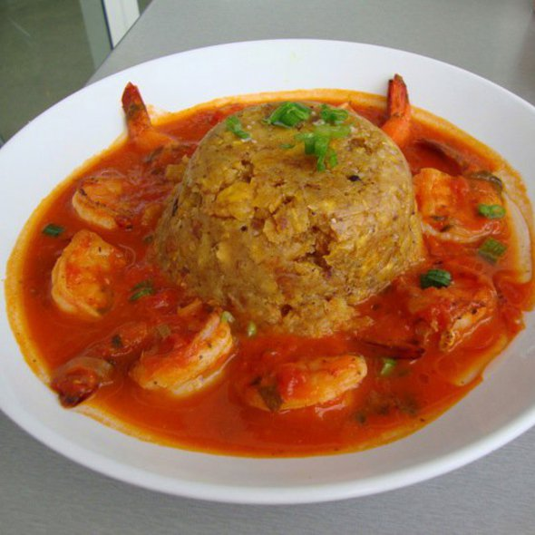 Mofongo with Shrimp in Creole Sauce @ Jimmy'z Kitchen Wynwood