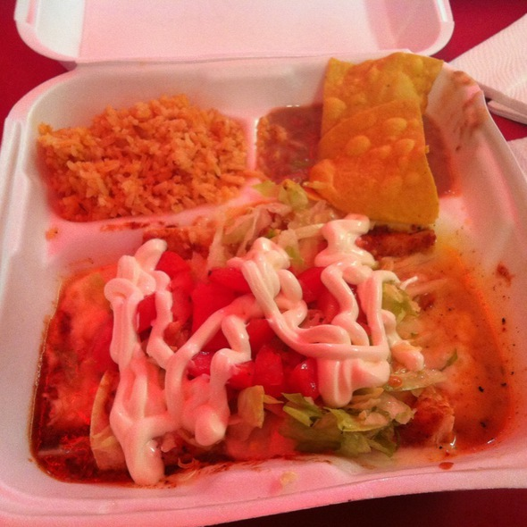 Cheese Enchiladas @ Sandoval Tacos Mexico