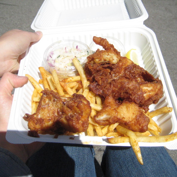Fish & Chips @ Sam's Chowder Mobile