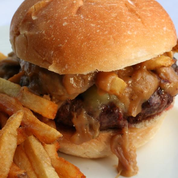 Poutine Burger - Grange Kitchen & Bar, Ann Arbor, MI