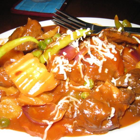 Kalderetang Kambing (Goat Stew) @ Kinabuchs