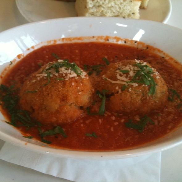 Parmesan Arancini / Buffalo Mozzarella / Spicy Pomodoro Fondue - Stella, Boston, MA