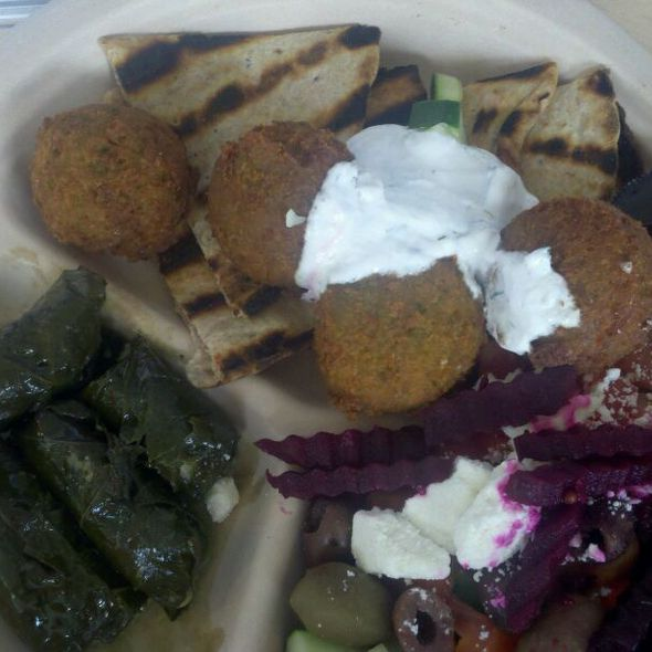 falafel platter @ Whole Foods Market Friendship Heights