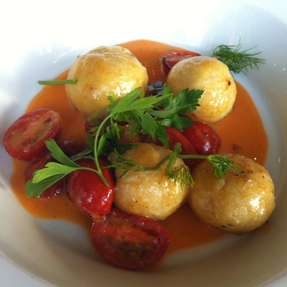 Ricotta Gnudi With Bistered Cherry Tomatoes - Mildred's Temple Kitchen, Toronto, ON