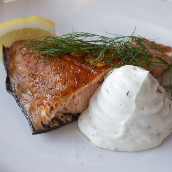 Smoked salmon with sour mayonnaise @ Kabyssen, Vaxholm