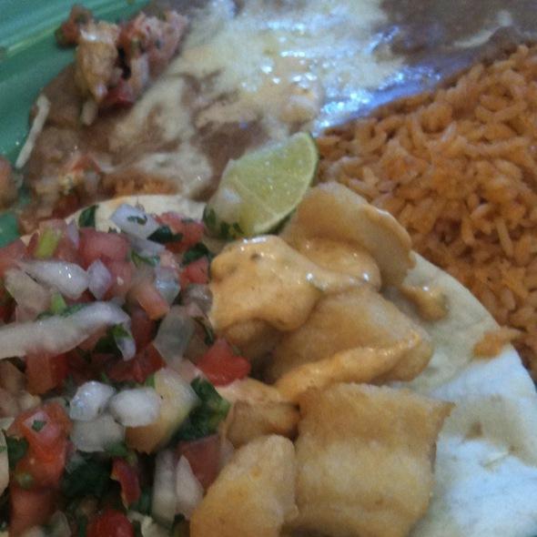 fish tacos @ Sanchos Taqueria